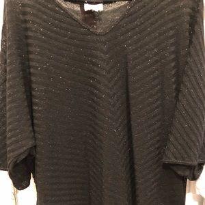Avenue black sparkly shirt